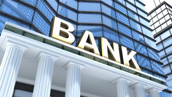 grafika zobrazující vchod do banky