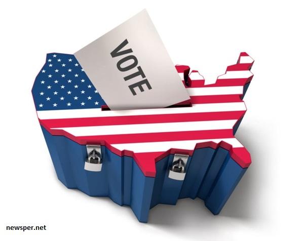 grafika USA jako volební urny