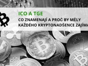 název článku v popředí a mince různých kryptoměn ležících na základové desce počítače