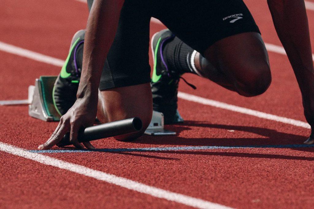 startovací pozice atleta