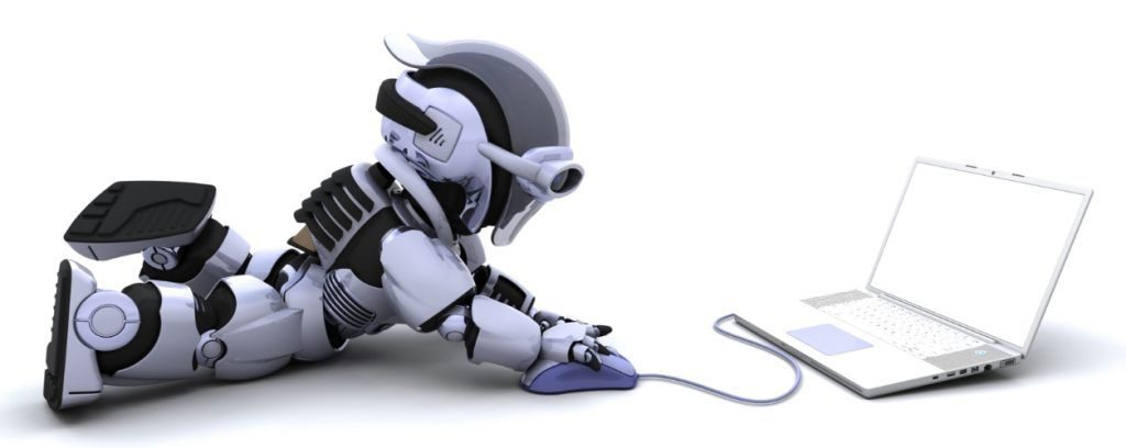 robot obchodující napočítači