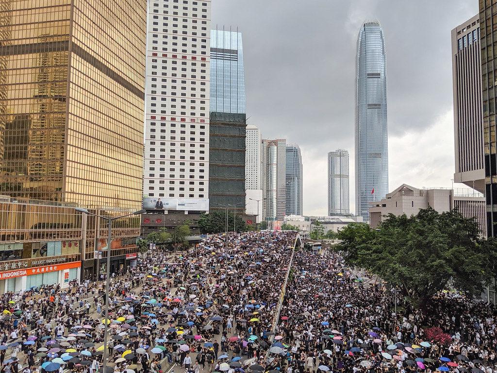 protesty vHong Kongu